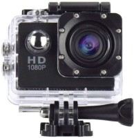 RapGear 4K 1080P action camera 2-inch LCD 140 Degree Wide Angle Lens Sports and Action Camera(Black, 12 MP)