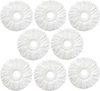 KitchenFest 8 pcs Magic Spin Mop Replacement Head Refill for 360 degree Rotation Mop Refill(White)