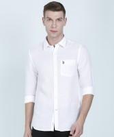 U.S. Polo Assn. Men Solid Casual White Shirt