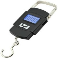Zelenor 50Kg Portable Hanging Luggage Weight Machine Digital for Weighing Household Items Weighing Scale(Black)