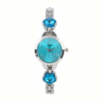 Anjani Party Wear Blue Dial & 2 Stone Diamond Watches for Girls and Women's bg-24 Analog Watch  - For Girls