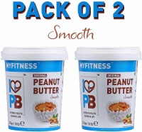 MYFITNESS Smooth Peanut Butter 510g (Pack of 2) 1020 g(Pack of 2)