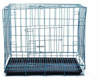 Futurekart Single-Door Folding Metal Dog Cage with Paw Protector (60x42x50CM) Dog Hutch