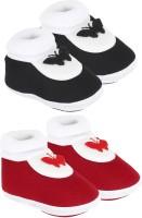 Neska Moda 0 To 12 Month Set Of 2 Baby Booties(Toe to Heel Length - 12 cm, Multicolor)