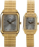 Titan NH15812488YM04  Analog Watch For Couple