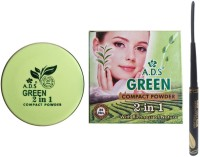 ADS Green Tea Compact and Waterproof Perfect Eyeliner Combo(2 Items in the set)