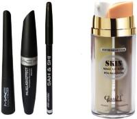 Sah&Shi Eyebrow Pencil Black & Mac Liquid EyeLiner & Mac Mascara & Kazal(4 Items in the set)