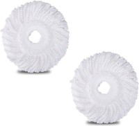 KitchenFest MICRO FIBER REFILL Spin Mop Replacement Washable Heads 2 PCS Refill(White)