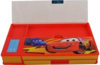 GENCLIQ 1 Cartoon Art Plastic Pencil Box(Set of 1, Red)