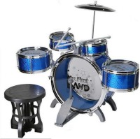 Jsk enterprise Unique Jazz Big Size Musical Drum Set with 5 Drums with Cymbal and Chair(Multicolor)