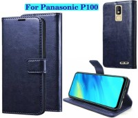Finely Flip Cover for Panasonic P100(Navy Blue)