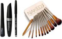 Sah&Shi Eyebrow Pencil & (Mac 3in1) & Urban Decay naked 3 makeup brush set of 12(Set of 4)