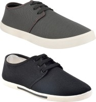 Chevit Combo Pack of 2 Sneakers With Loafers For Men(Grey, Black)