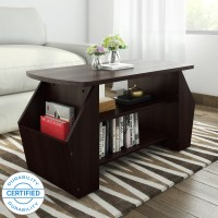 Valtos Engineered Wood Coffee Table(Finish Color - Wenge)