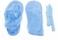 SHAFIRE Waterproof Reusable PVC Anti-Skid Rain Shoes Cover (Blue) Plastic Blue Flat Shoe Cover, Boots Shoe Cover, Toes Shoe Cover, High Ankle Shoe Cover(39-41 Pack of 1)