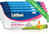 Little's Soft Cleansing Baby Wipes with Aloe Vera, Jojoba Oil and Vitamin E (80 N x 5 Pack of)(400 Pieces)