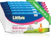 Little's Soft Cleansing Baby Wipes with Aloe Vera, Jojoba Oil and Vitamin E (80 N x 6 Pack of)(480 Pieces)