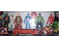 Joanna Pack of 5 Super Heroes_2 / Movable Body/ Multicolored(Multicolor)