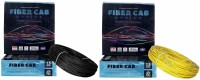 D'mak Fibercab, 'PVC Insulated Single Core FlexbleCopper Wire (Pack of 2) 1.5 sq/mm Black, Yellow 90 m Wire(black, yellow)
