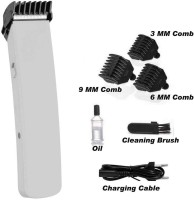 Trifles Rechargeable Hair Cutting Trimmer Professional Hair Clipper Shaver Razor  Runtime: 60 min Trimmer for Men(White)