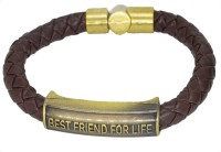 Men Style Leather, Stainless Steel Bracelet