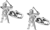Shining Jewel Brass Cufflink(Silver)