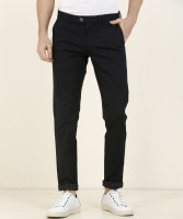 Indian Terrain Slim Fit Men Dark Blue Trousers