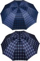 KEKEMI UMB016C_15 3 Fold Check Windproof Travel Umbrella(Multicolor)