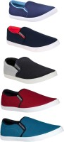 BRUTON Combo Pack Of 5 Casual Shoes Loafers For Men(Multicolor)
