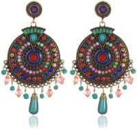 Shining Diva Colorful Bohemian Stylish Fancy Party Wear Earrings Crystal Alloy Drops & Danglers