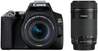 Canon EOS 200D II DSLR Camera EF-S 18 - 55 mm IS STM and 55 - 250 mm IS STM(Black)