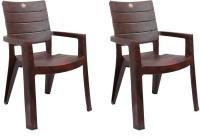 Cello Jordan Cafeteria Set Of 2 Chair,Rosewood Plastic Cafeteria Chair(Rosewood, Set of 2)