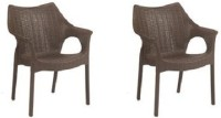 Supreme Cambridge Set of 2 Chairs, Wenge Plastic Cafeteria Chair(Wenge, Set of 2)