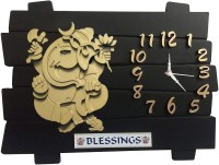 Flipkart SmartBuy Analog 35 cm X 35 cm Wall Clock(Black, Without Glass)