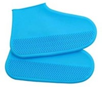 CLOMANA Rain Shoe Cover Silicone Blue Boots Shoe Cover, Flat Shoe Cover, High Ankle Shoe Cover(Medium Pack of 1)