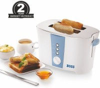 Boss Gold (B503) 700 W Pop Up Toaster(White)