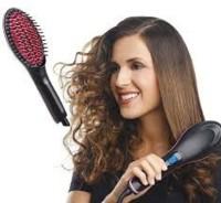 Insasta Fast Ceramic Brush with Lcd Display KSJ-003 Hair Straightener Hair Straightener(Multicolor)