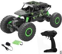 AsianHobbyCrafts Waterproof Remote Controlled Rock Crawler RC Monster Truck(Black, Green)