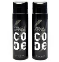 Wild Stone Code Chrome No Gas Deodorant Spray  -  For Men(240 ml, Pack of 2)