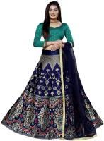 INDIAN BEAUTIFUL Self Design Semi Stitched Lehenga, Choli and Dupatta Set