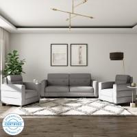 Flipkart Perfect Homes Salzburg Fabric 3 + 1 + 1 Grey Sofa Set