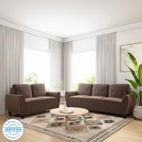 Flipkart Perfect Homes Bibury Fabric 3 + 2 Coffee Sofa Set