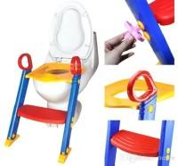 Nightstar Foldable Plastic Kids Toilet Toilet Chair Potty Ladder Potty Seat(Multicolor)