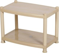 Sauran Plastic Coffee Table(Finish Color - Beige)