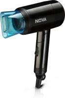 Nova Silky Shine Hot And Cold Foldable NHP 8105 Hair Dryer(1200 W, Black)