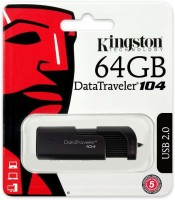 KINGSTON DT104/64GB 64 GB Pen Drive(Black)