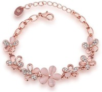 Shining Diva Crystal Cubic Zirconia Gold-plated Bracelet
