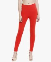Paryag Hosiery Legging(Red, Solid)