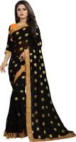 ISHA TRADE Embellished Fashion Georgette Saree(Black)