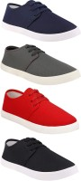 Chevit Combo Pack of 4 Casual Sneakers With Sneakers For Men(Multicolor)